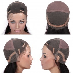 """Full Lace Wig, Short Length, 8"""", Pixie Cut, Color #1B (Off Black), Made With Remy Indian Human Hair"""