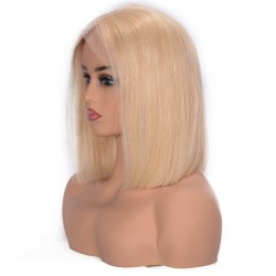 "Full Lace Wig, Bob, 10"", Color 22 (Light Pale Blonde)"