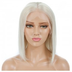 "Full Lace Wig, Bob, 10"", Color 60 (Lightest Blonde)"