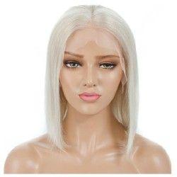 """Full Lace Wig, Bob, 10"""", Color 60 (Lightest Blonde)"""
