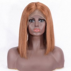 "Full Lace Wig, Bob, 10"", Color 33 (Auburn)"