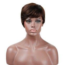 """Full Lace Wig, Fringe, 8"""", Color 2 (Darkest Brown)"""