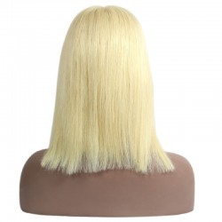 Full Lace Wig, Medium Length, Color #22 (Light Pale Blonde), Made With Remy Indian Human Hair