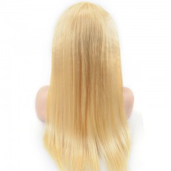 Full Lace Wig, Long Length, Color #24 (Golden Blonde), Made with Remy Indian Human Hair