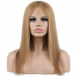 Full Lace Wig, Color 18 (Light Ash Blonde)