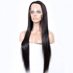 Full Lace Wig, Extra Long Length, Color #1B (Off Black), Made With Remy Indian Human Hair
