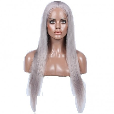 Full Lace Wig, Color Silver (Grey)