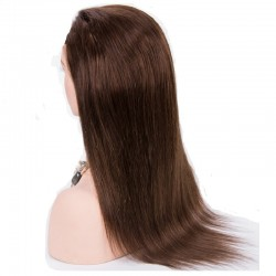 Full Lace Wig, Long Length, Color #2 (Darkest Brown), Made with Remy Indian Human Hair