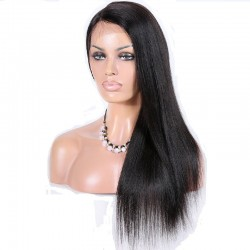 Full Lace Wig, Long Length, Color #1 (Jet Black), Made With Remy Virgin Indian Human Hair