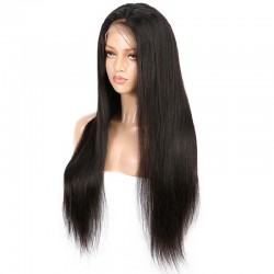 Full Lace Wig, Extra Long, Color #1B (Off Black), Made With Remy Indian Human Hair