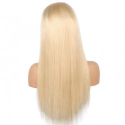 Full Lace Wig, Extra Long Length, Color #613 (Platinum Blonde), Made With Remy Indian Human Hair