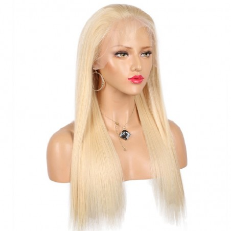 Full Lace Wig, Color 613 (Platinum Blonde)