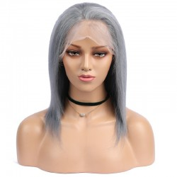 Full Lace Wig, Ombre Color Grey