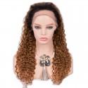 Full Lace Wig, Color 1B/12 (Off Black / Light Brown)
