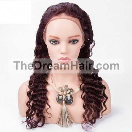 Full Lace Wig, Color 99j (Burgundy)