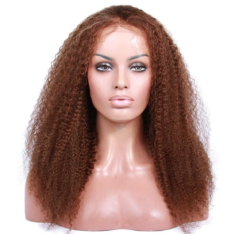 Full Lace Wig, Highlight Color 4/60 (Dark Brown / Lightest Blonde)