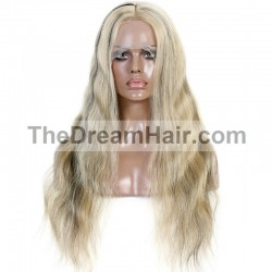 Full Lace Wig, Highlight Color 1B/60 (Off Black / Lightest Blonde)