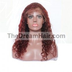 Full Lace Wig, Color 35 (Red Rust)