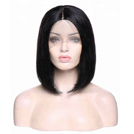 "Lace Front Wig, Bob, 10"", Color 1 (Jet Black)"