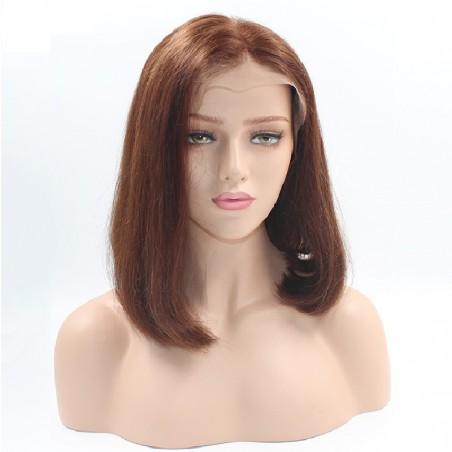 """Lace Front Wig, Bob, 10"""", Color 6 (Medium Brown)"""