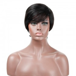 "Lace Front Wig, Fringe, 8"", Color 1 (Jet Black)"