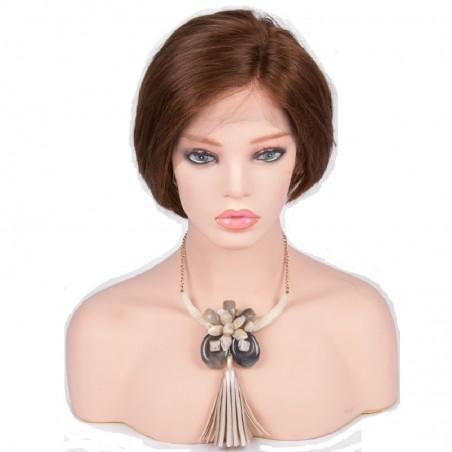 "Lace Front Wig, 8"", Color 4 (Dark Brown)"
