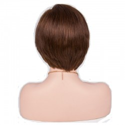 """Lace Front Wig, Short Length, 8"""", Color #4 (Dark Brown), Made With Remy Indian Human Hair"""