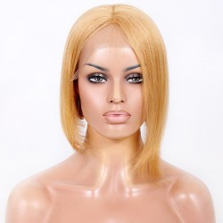 "Lace Front Wig, Bob, 10"", Color 12 (Light Brown)"