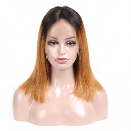 Lace Front Wig, Ombre Color 1B/27 (Off Black / Honey Blonde)