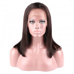 "Lace Front Wig, 16"", Color 1B (Off Black)"