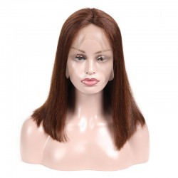 Lace Front Wig, Color 4 (Dark Brown)