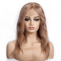 "Lace Front Wig, 16"", Color 8 (Chestnut Brown)"