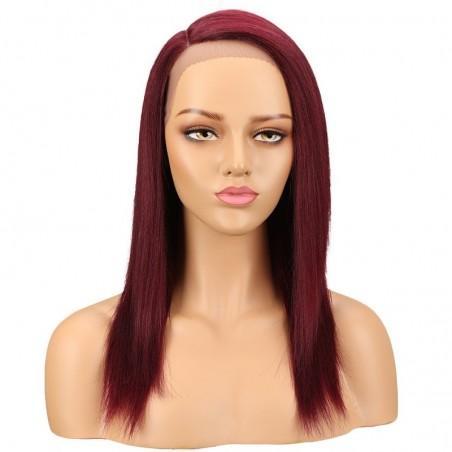 Lace Front Wig, Color 99j (Burgundy)