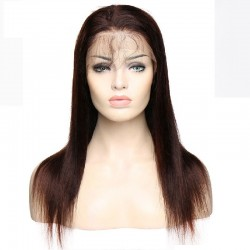 Lace Front Wig, Long Length, Pre Plucked, Color #1B (Off Black), Made With Remy Indian Human Hair