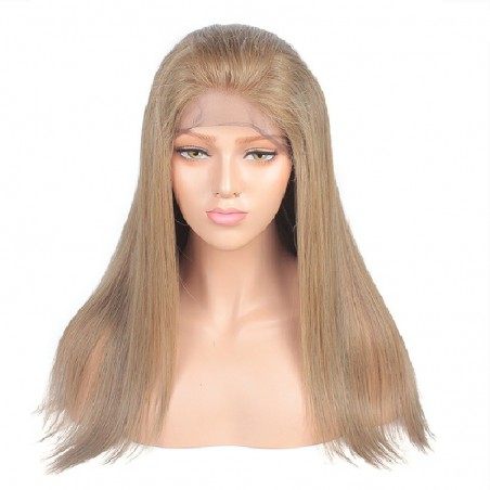 Lace Front Wig, Color 18 (Light Ash Blonde)