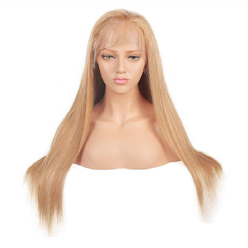 Full Lace Wig, Color 27 (Honey Blonde)