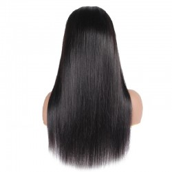 Lace Front Wig, Long Length, Color #1 (Jet Black), Made With Remy Indian Human Hair