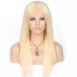 Lace Front Wig, Color 613 (Platinum Blonde)