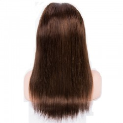 Lace Front Wig, Long Length, Color #2 (Darkest Brown), Made With Remy Indian Human Hair