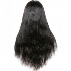 Lace Front Wig, Long Length, Color #1 (Jet Black), Made With Remy Virgin Indian Human Hair