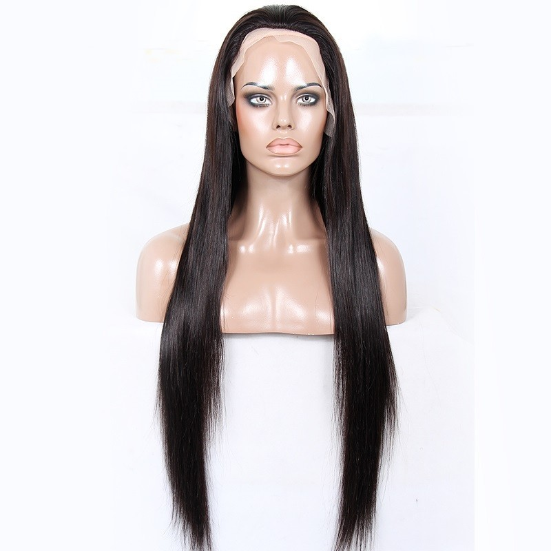Lace Front Wig, Extra Long Length, Color #1B (Off Black), Made With Remy Indian Human Hair