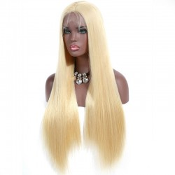 Lace Front Wig, Extra Long Length, Color #22 (Light Pale Blonde), Made With Remy Indian Human Hair