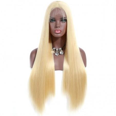 Lace Front Wig, Color 22 (Light Pale Blonde)