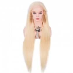 Lace Front Wig, Color 60 (Lightest Blonde)