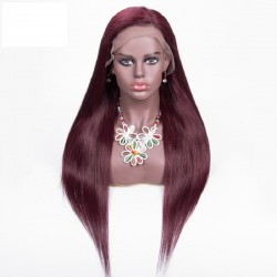 Lace Front Wig, Color 99j (Burgundy)