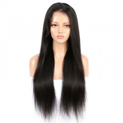Lace Front Wig, Extra Long, Color #1B (Off Black), Made With Remy Indian Human Hair