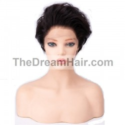 "Lace Front Wig, 8"", Color 1B (Off Black)"