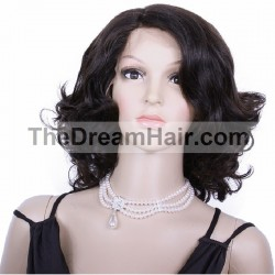 "Lace Front Wig, 14"", Color 1B (Off Black)"