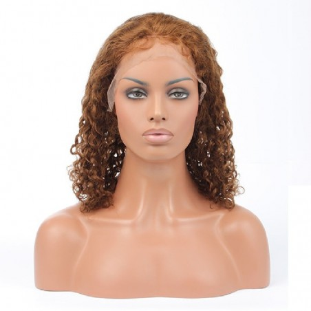 Lace Front Wig, Color 10 (Golden Brown)