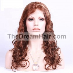 Lace Front Wig, Color 35/60 (Red Rust / Lightest Blonde)